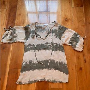 Parker silk tie dye blouse